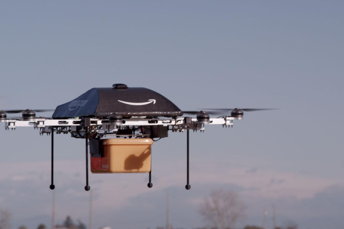 According to Amazon CEO Jeff Bezos, the drones will deliver packages to customers within 30 minutes of ordering