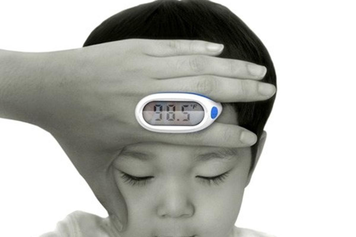 Lunar Baby Thermometer is a non-invasive solution to taking a child's temperature