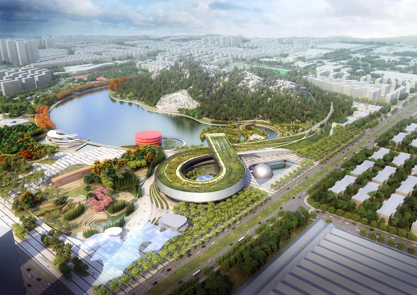 The Suzhou Science & Technology Museum will have a total floorspace of 600,000 sq ft (55,741 sq m)