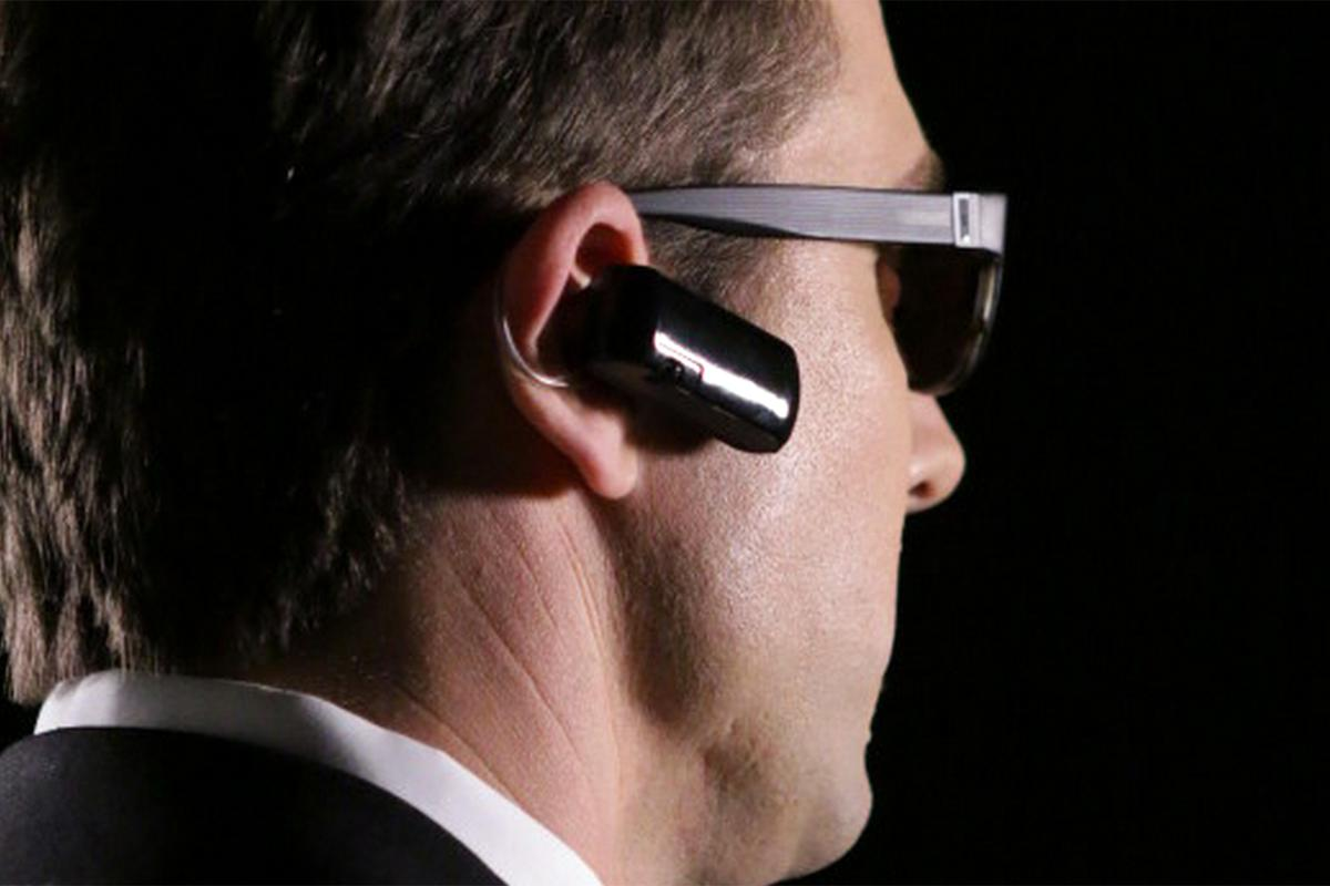 The Bluewire automatically records phone calls, even if they're using a different Bluetooth headset