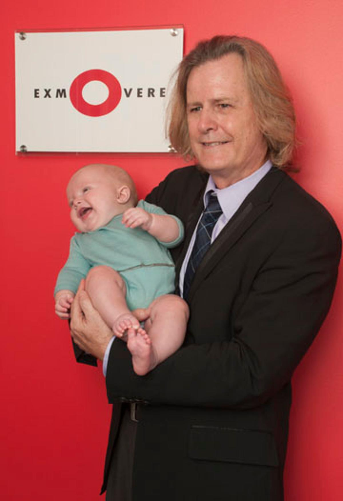 Cheyenne Crow from Exmovere Holdings with child wearing Exmobaby pajamas(Photo: Liz Roll)