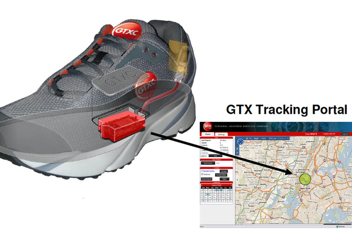 The GPS Shoes allow real-time tracking of the wearer