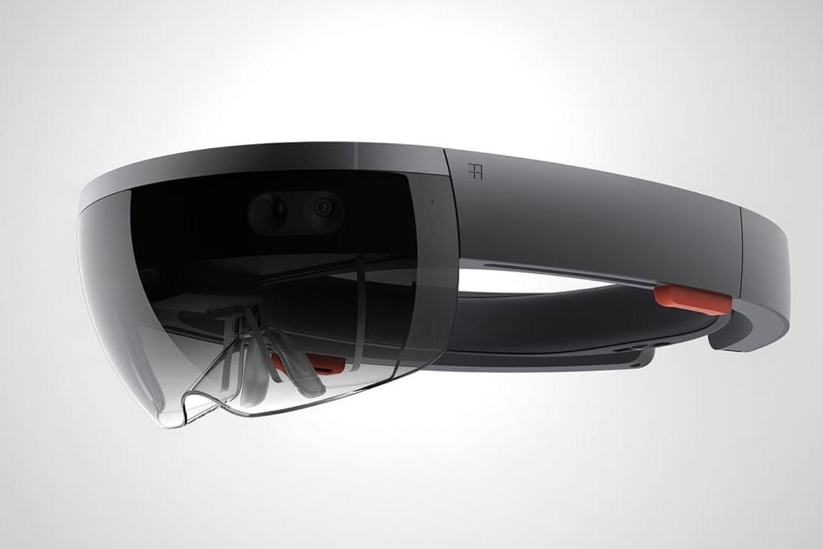 The HoloLens headset is still only available to developers, in the UK