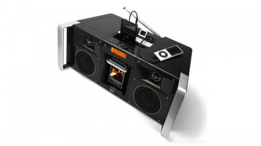 The Altec Lansing MIX boombox has three inputs for multiple music devices and plenty of extras