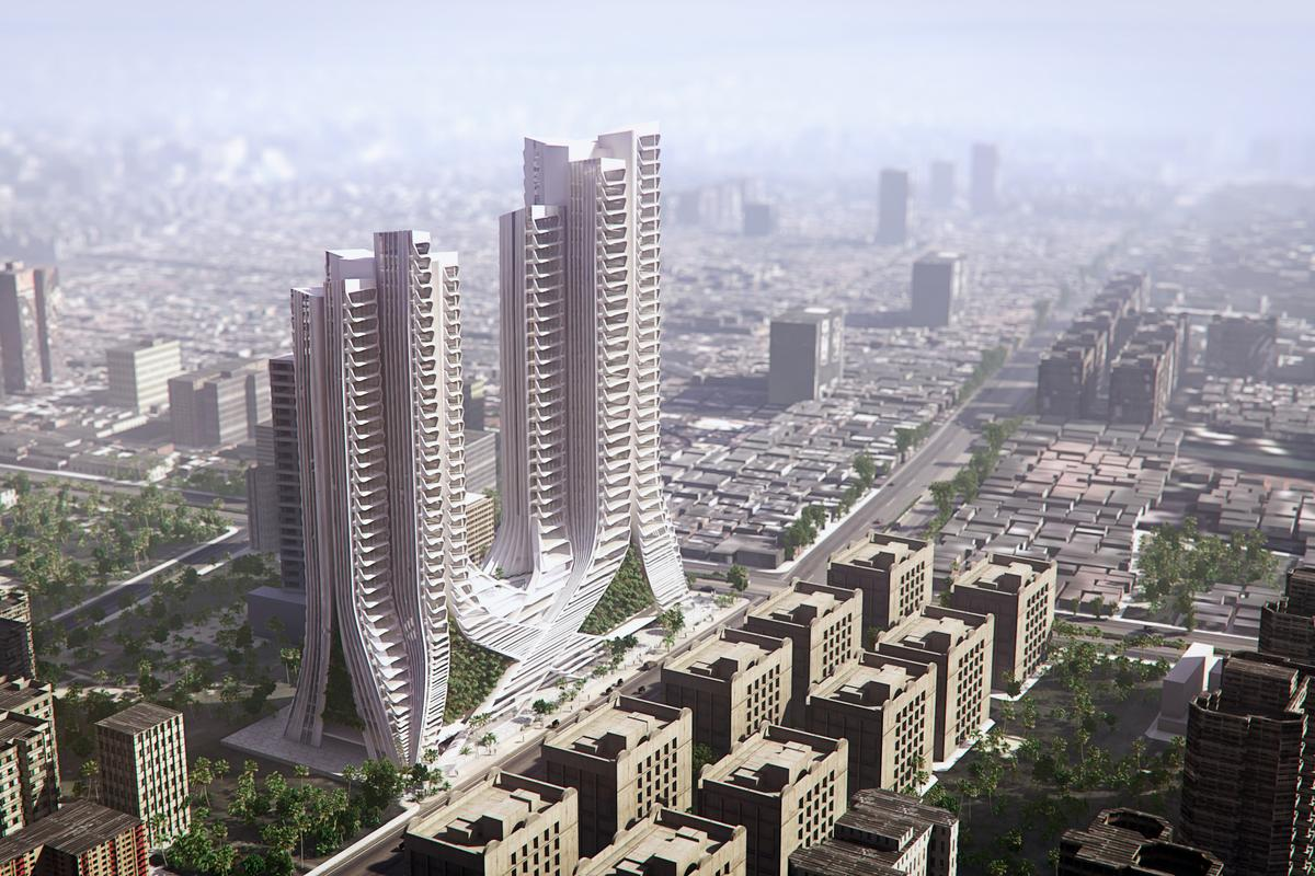 The Grove Towers project is due for completion in 2017 (Image: 3XN)