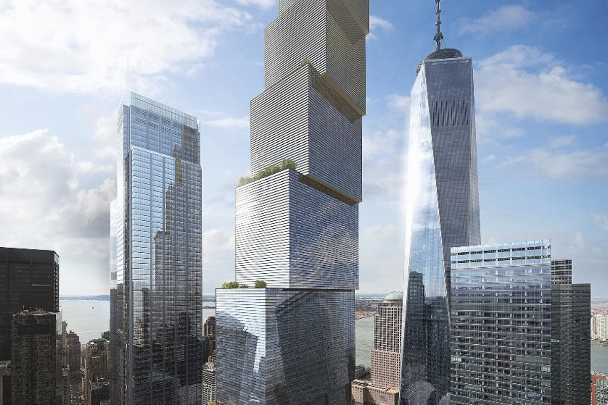 Denmark's Bjarke Ingels Group has unveiled preliminary plans and renders for Manhattan's Two World Trade Center