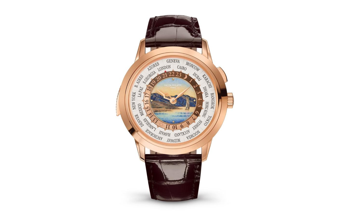 The Patek Phillipe World Time Repeater combines world time and repeater functions in a production mechanicalwristwatch