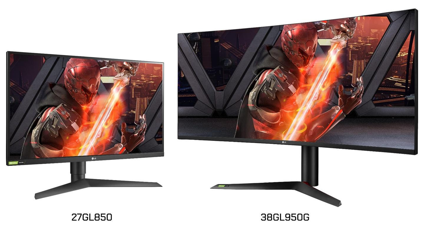 The new LG UltraGear monitors come in two sizes: 27 in and 37.5 in