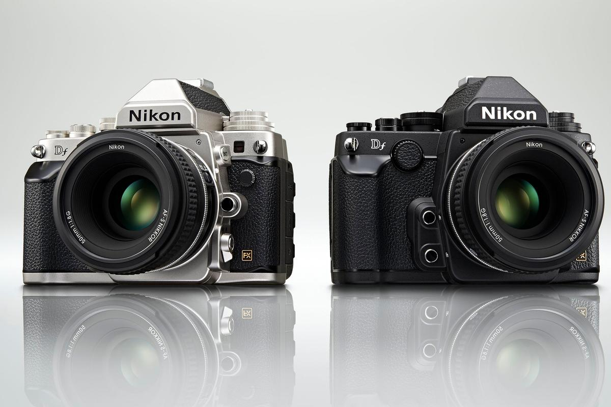 The Nikon Df is a retro-styled and slimmer full-frame DSLR