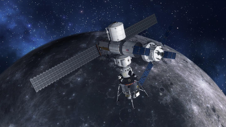 Concept of the lunar lander at Gateway
