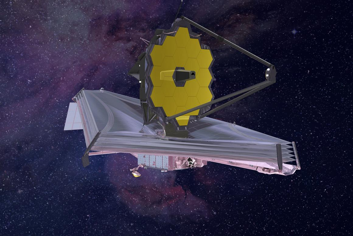 The 6.5 m James Webb Space Telescope could herald a new age for astronomy (Image: NASA/Northrop Grumman)