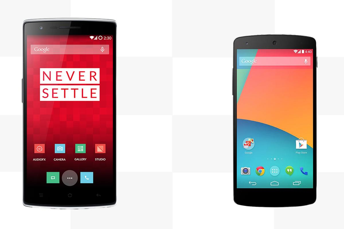 Gizmag compares the features and specs of the new OnePlus One and Google/LG Nexus 5