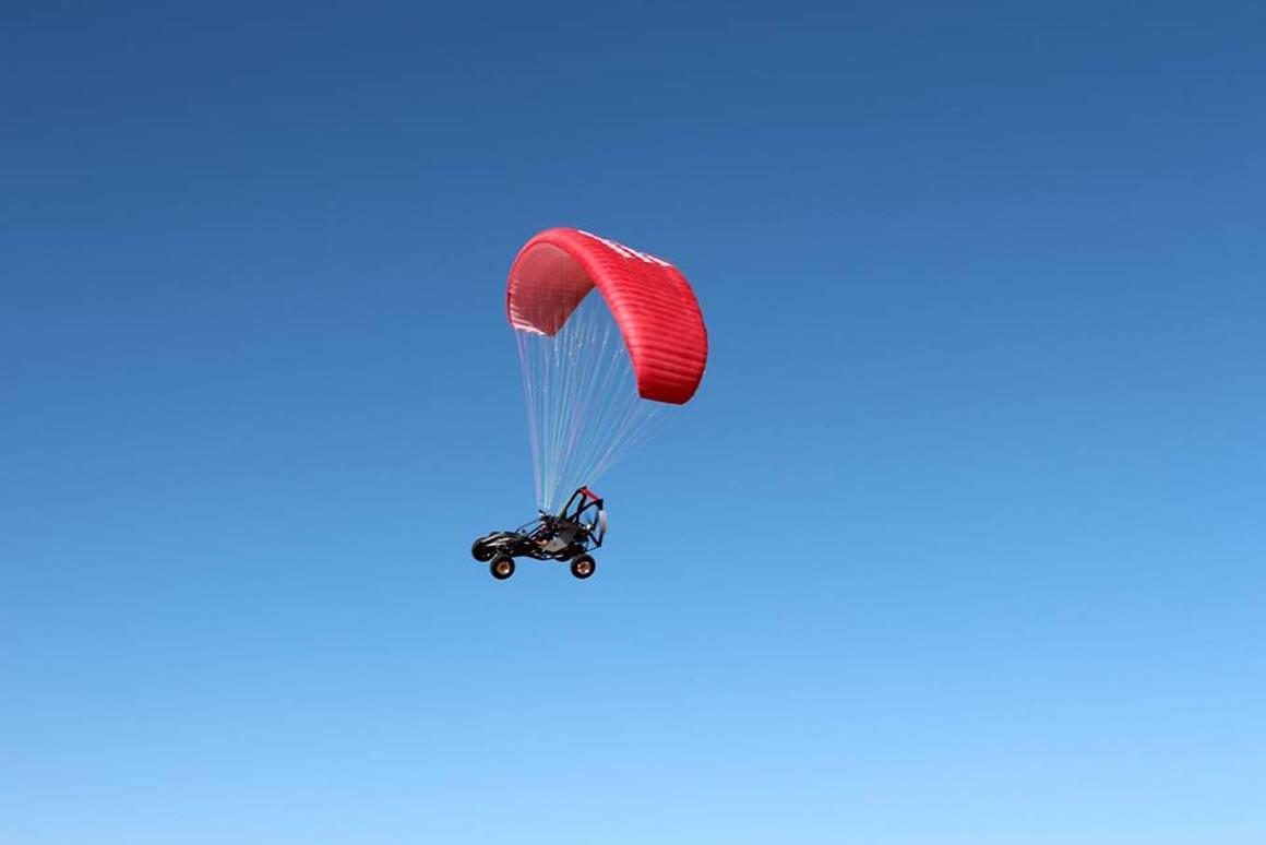 The SkyRunner in flight