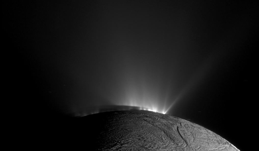 Cassini image of Enceladus' southern poll