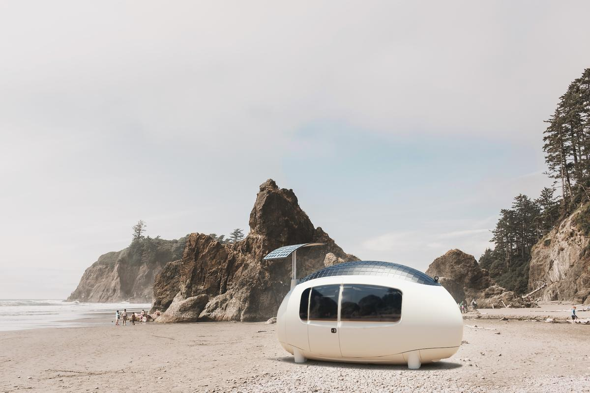 The Space by Ecocapsule is the latest iteration of Ecocapsule's egg-shaped dwellings