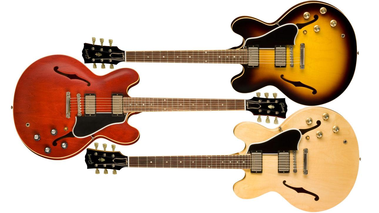 The ES-335TD comes in three colours: Antique Faded Cherry, Antique Vintage Sunburst and Antique Natural