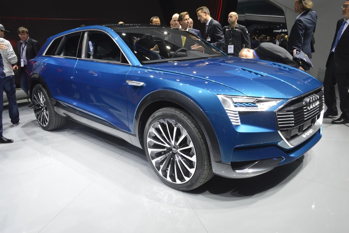 Audi's e-tron quattro packs three electric motors into that shapely body