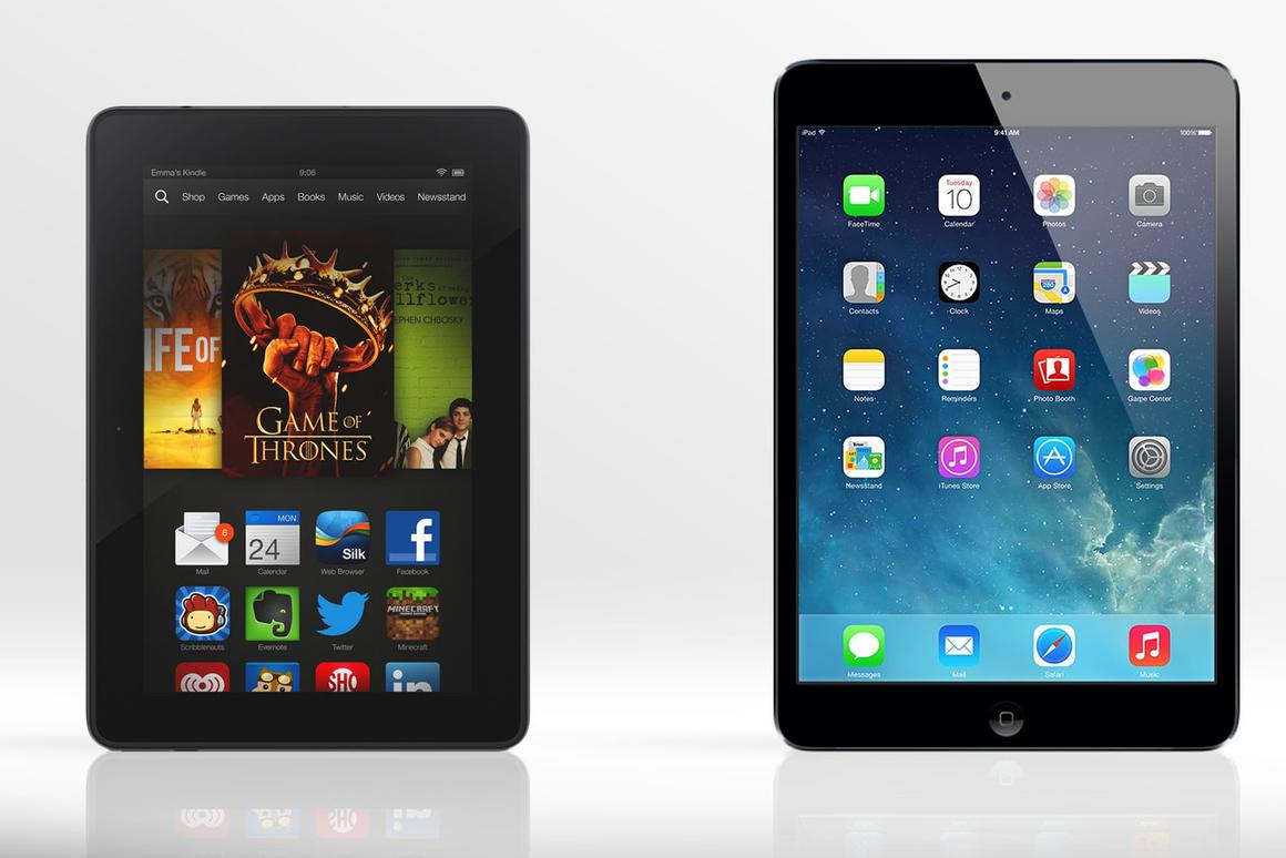 Kindle Fire HDX vs  iPad mini