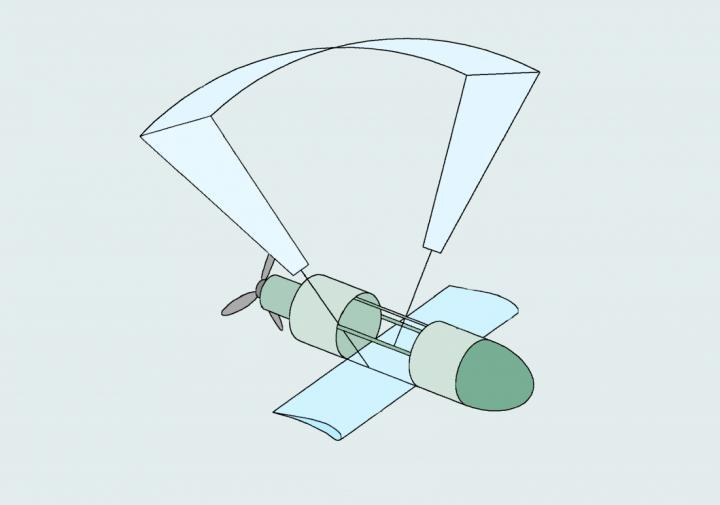 A patent illustration of the GLUAS drone