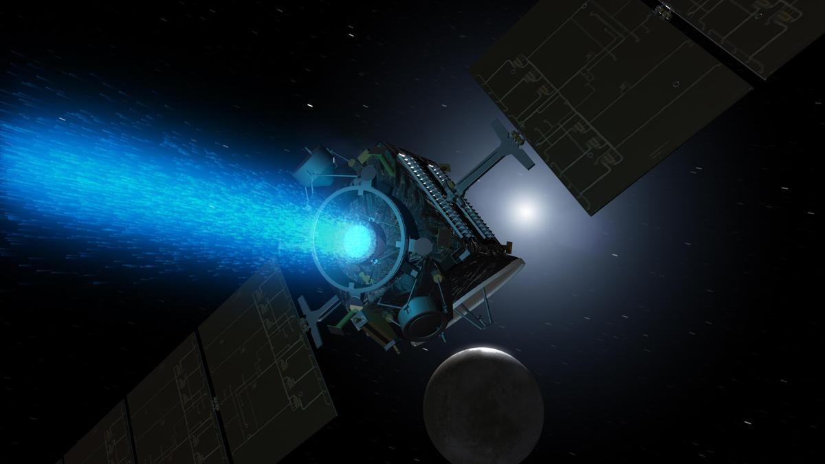 Artist's concept of Dawn approaching Ceres (Image: JPL/NASA)