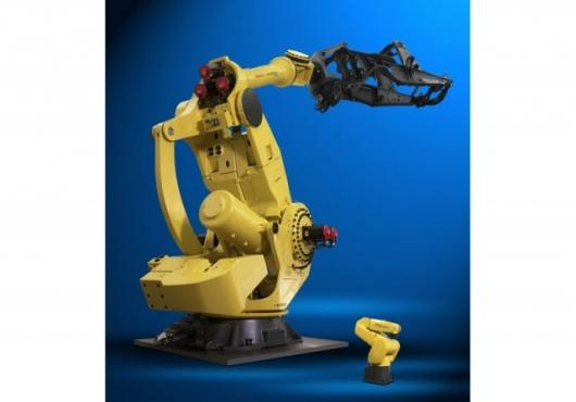 """""""The M-2000iA is the world's largest and strongest six-axis robot,"""" said Rich Meyer, product manager, FANUC Robotics. """"It has the longest reach and the strongest wrist – surpassing all other six-axis robots available today."""""""