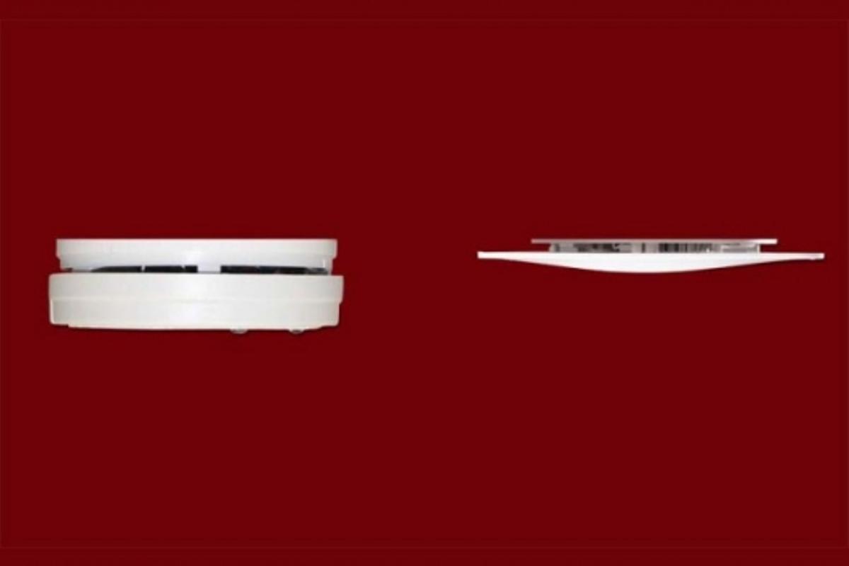 Size comparison: Silhouette Smoke alarm v conventional model