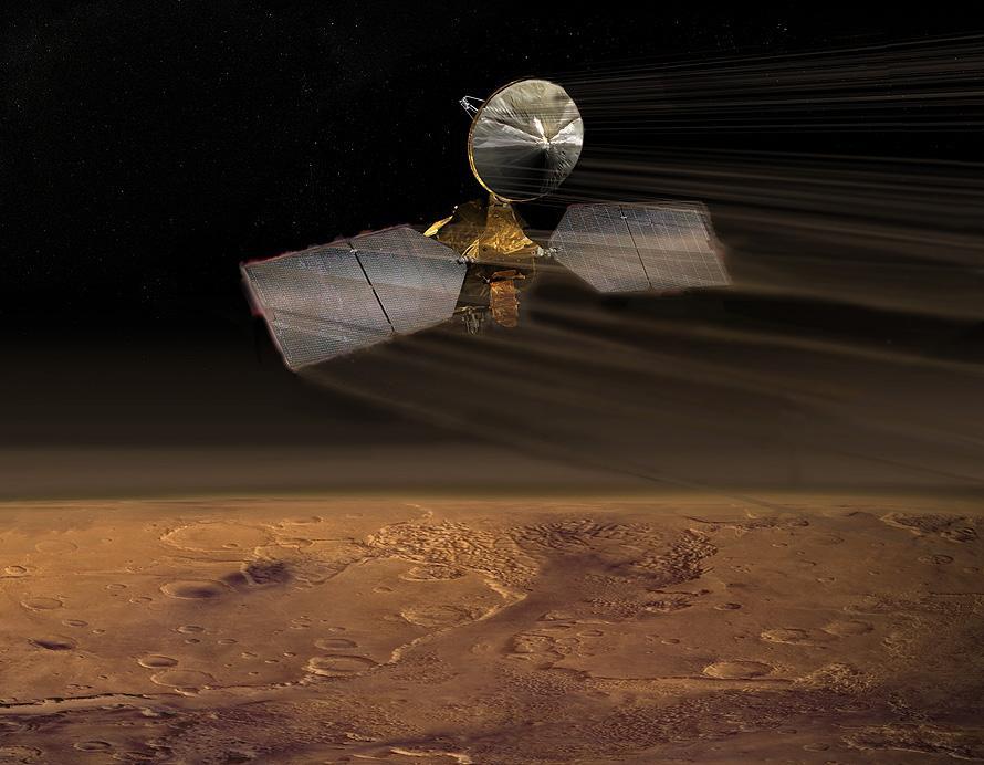 NASA's Mars Reconnaissance Orbiter doing what it does best – orbiting Mars (Image: NASA)