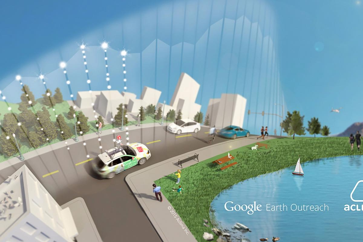 A new project will see Street View cars equipped with sensors to help them assess the quality of air at a street level