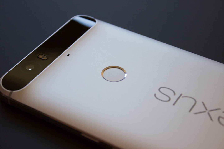 The back-facing fingerprint sensor on the Nexus 6P