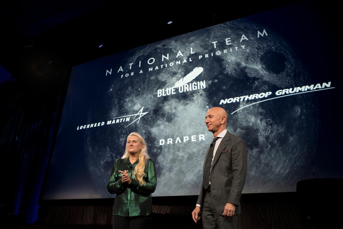Jeff Bezos announcing the lander partnership