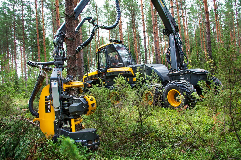 Ponsse Ergo 8-wheeler: ruthlessly efficient logging machine