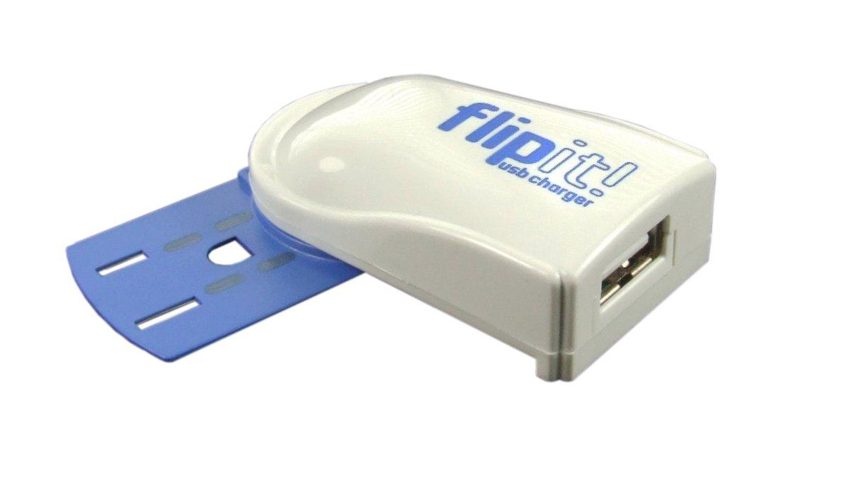 The Flipit is a charging device that draws power from electrical outlets that are already in use