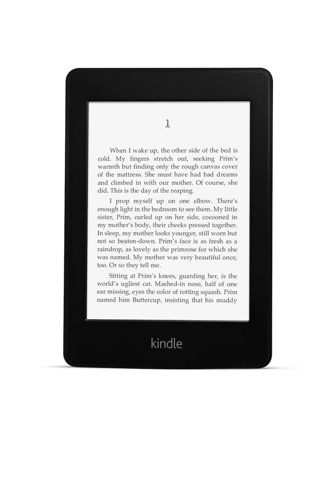 The Kindle Paperwhite's screen illumination technology comprises four low-power LEDs to shine light toward the screen from above