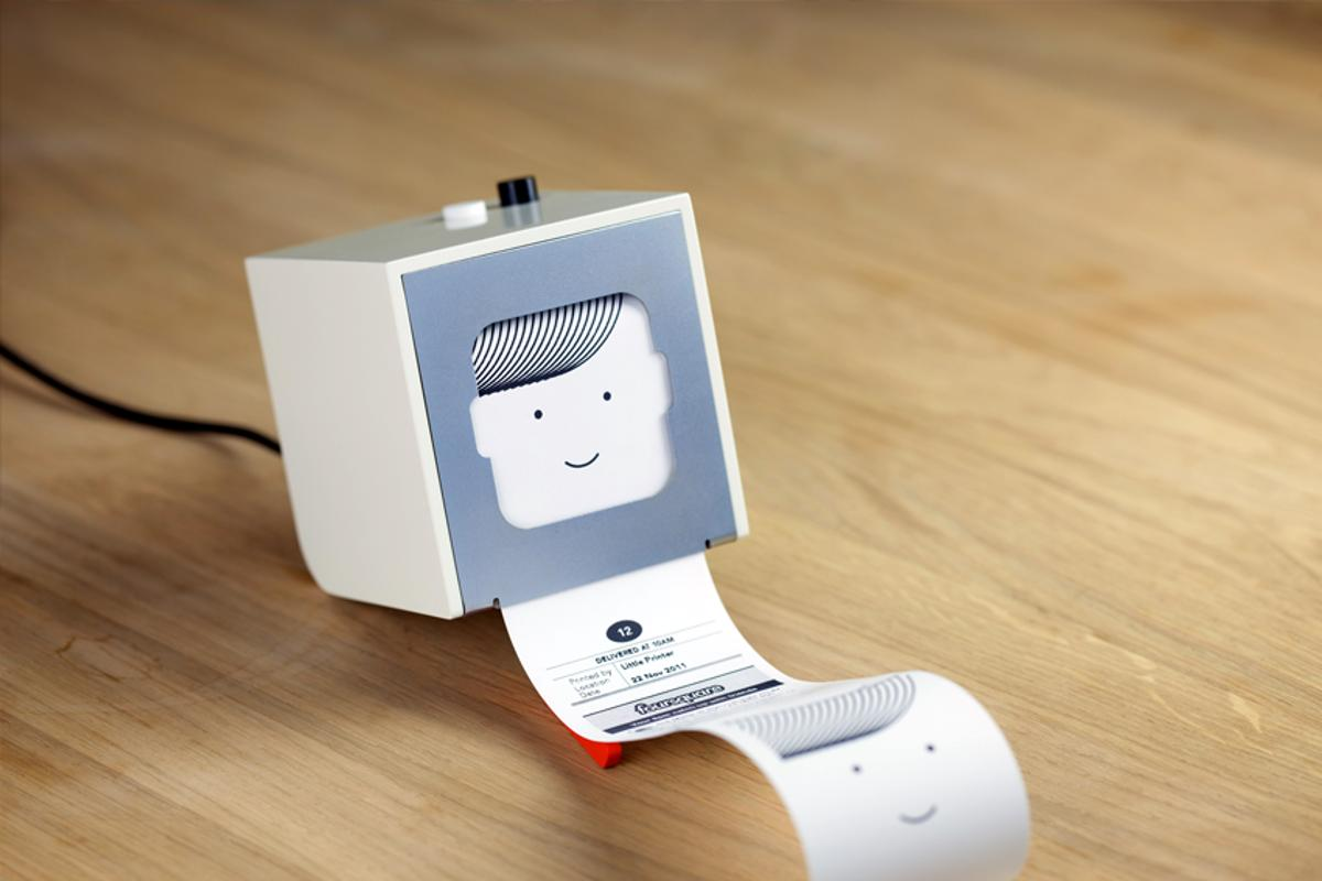 The Little Printer is a cloud-connected thermal printer, that prints off mini newspapers customized to its user
