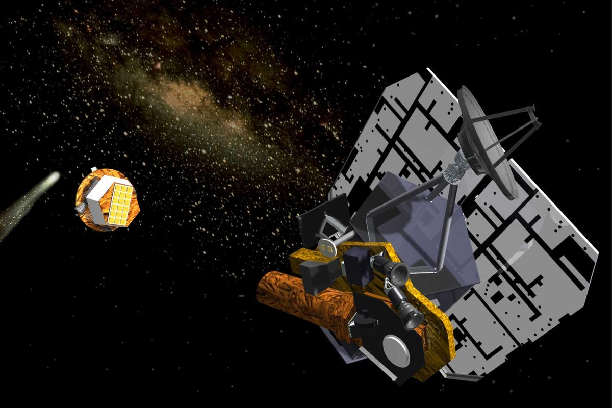 Deep Impact carried an impactor probe, which it launched at comet Tempel 1 in 2005 (Image: NASA)