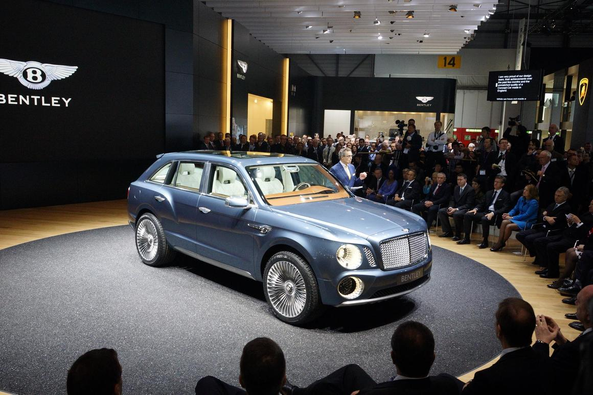 The Bentley EXP 9 F takes a bow at the Geneva Show - the muscular look has been translated successfully