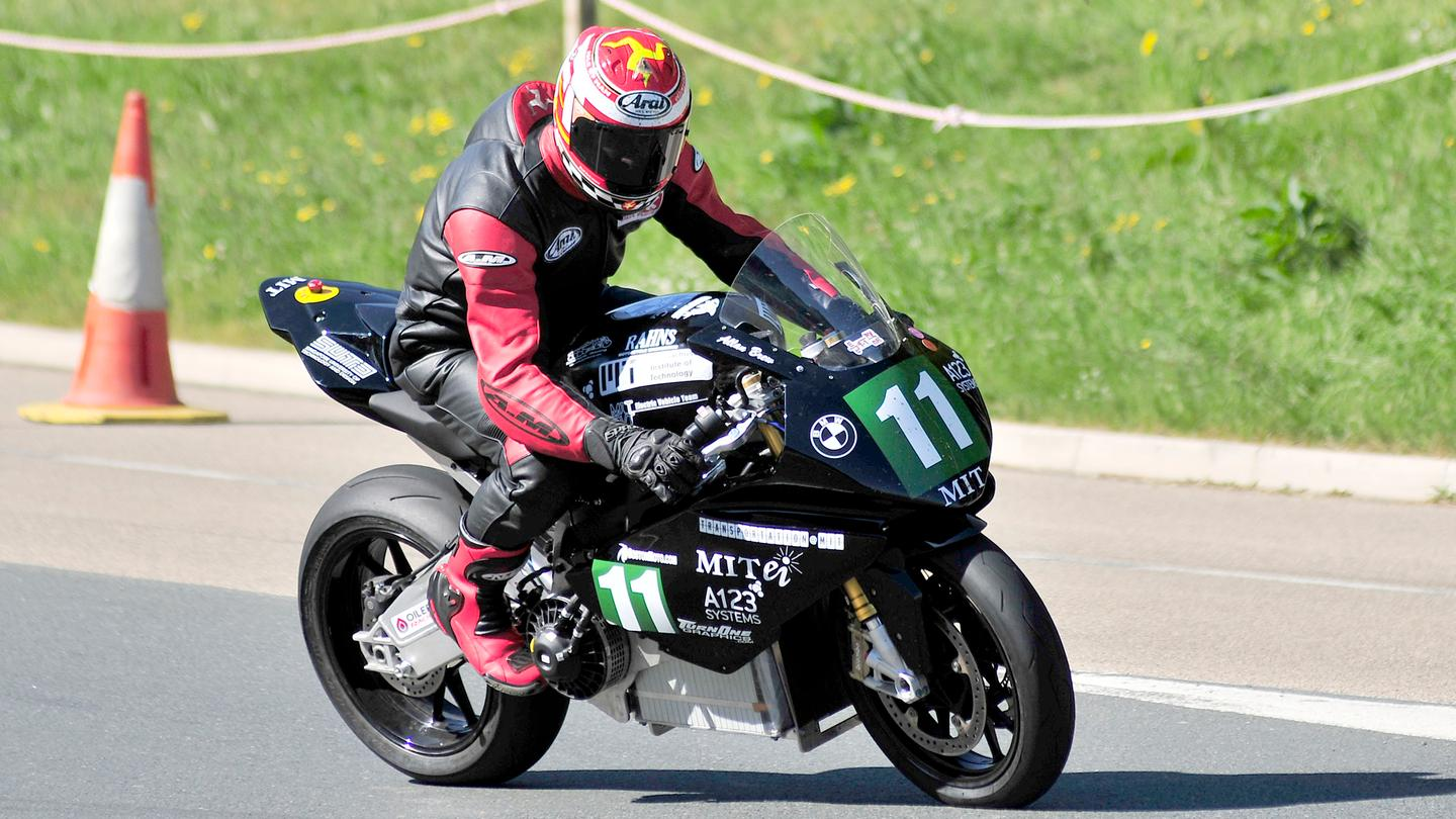 The MIT BMW EVT machine of Allan Brew finished fourth and second in the University competition