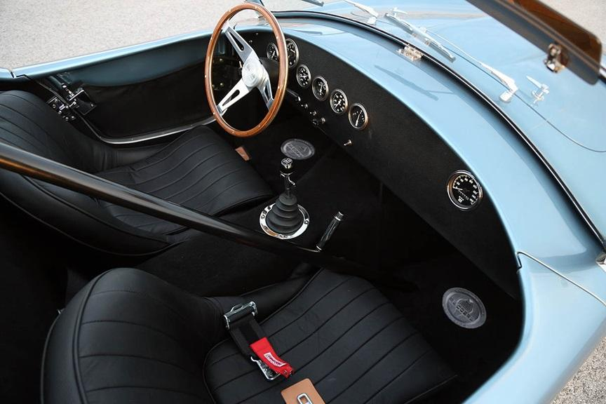 The 50th Anniversary FIA Cobra has a black interior