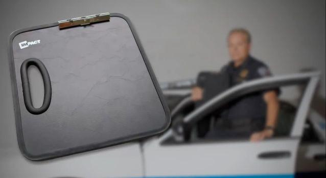 The IMPACT Ballistic Clipboard is a bulletproof clipboard, designed for police use