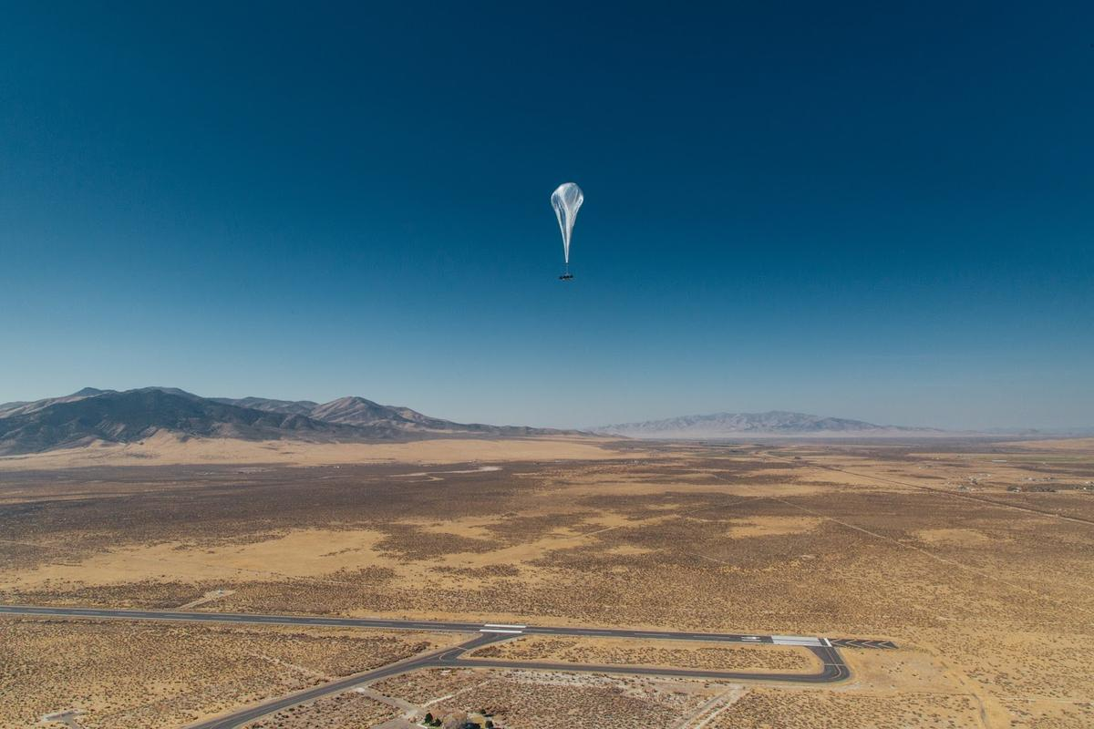 Project Loon launched its balloons from its base in Nevada