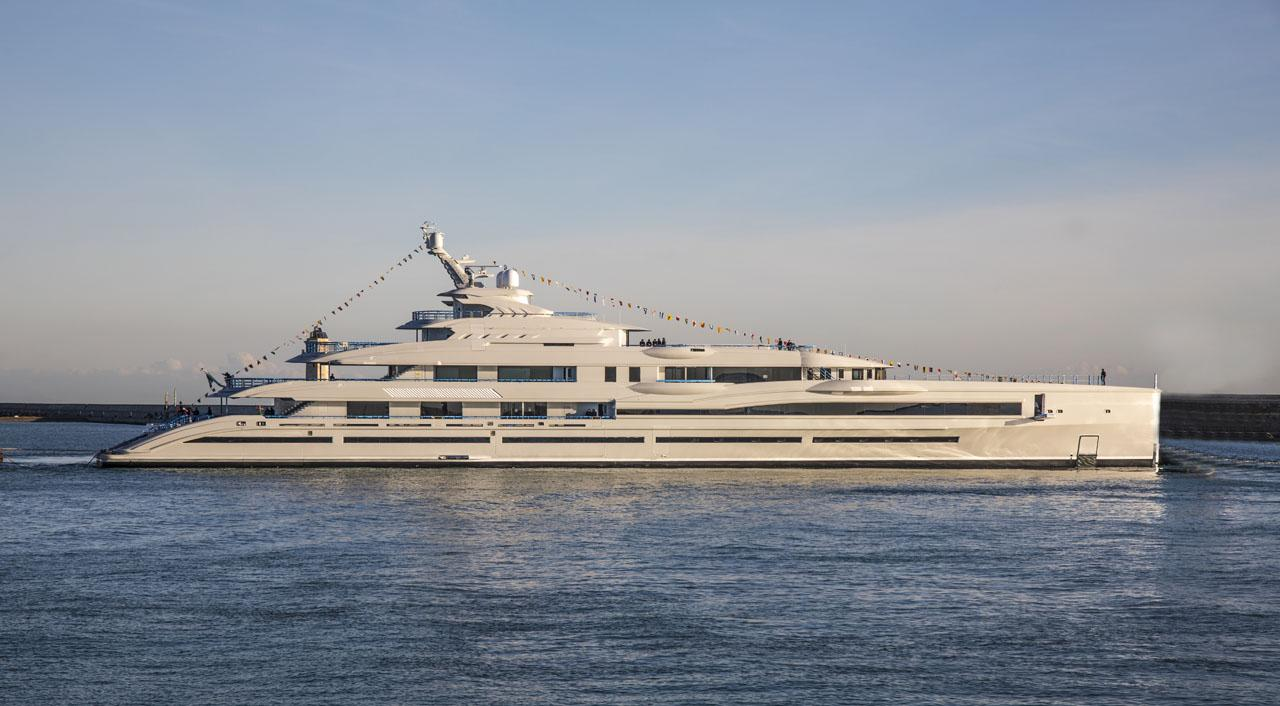 Italian shipyard Benetti has recently launched its largest yacht to date, the 351-ft (107-m) FB277