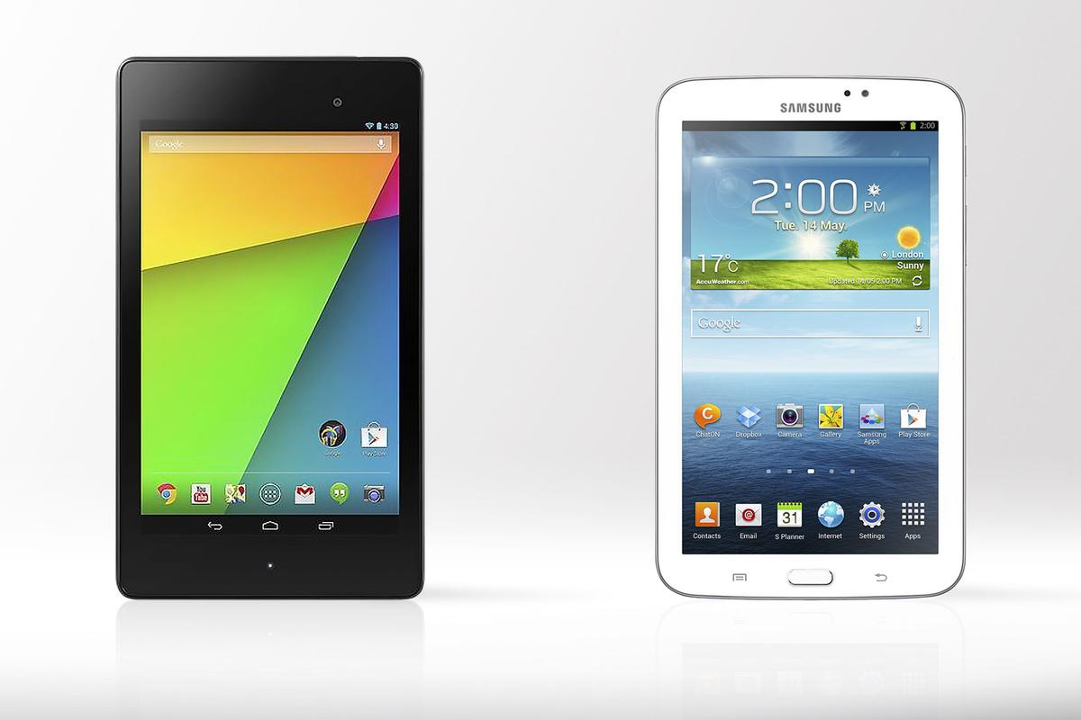 Gizmag compares the specs (and other features) of the new 2nd-gen Nexus 7 and Samsung's Galaxy Tab 3 7.0