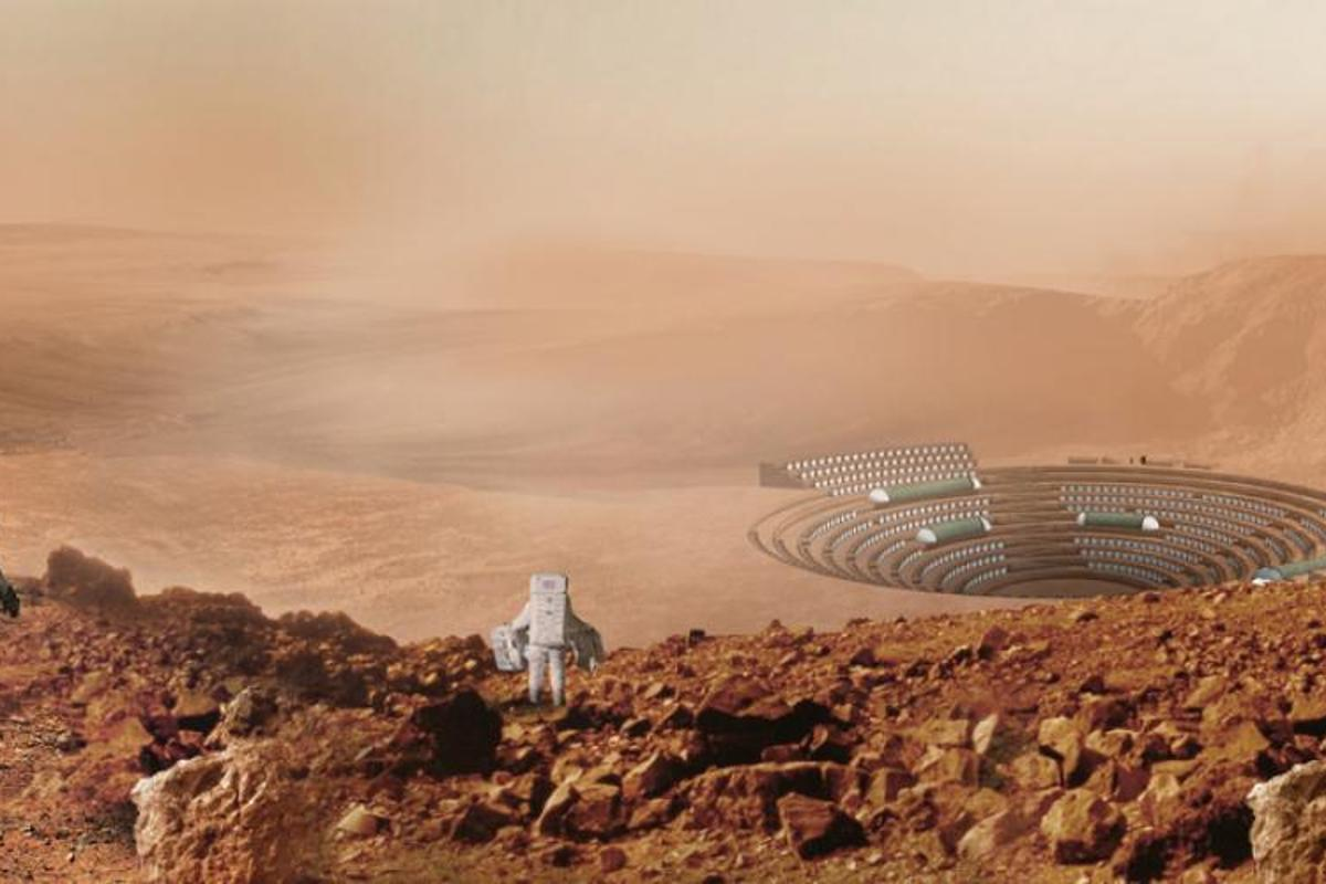 Winner of the Focus Award in the Innovation and Architecture for Space category is Martian Chronicle, a project exploring the urbanization of Mars