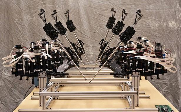 Three of the Raven II surgical robots (Photo: UW)