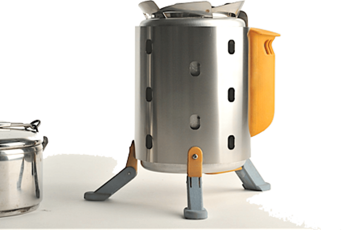 The power pack packs clips easily to the exterior when removed to create a cook stove that is 7.5 inches tall by 4.75 inches diameter, and weighs only 1lb 10 ounces