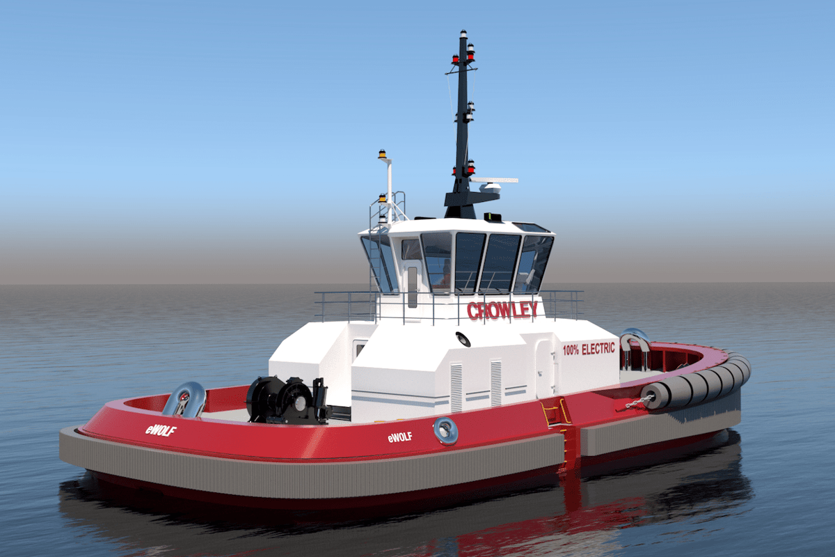 The eWolf electric ship-assist tug will go into service at the Port of san Diego from mid-2023