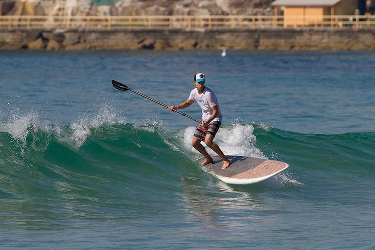 The NSP Coco Mat stand-up paddleboard is made partially from coconut fibers