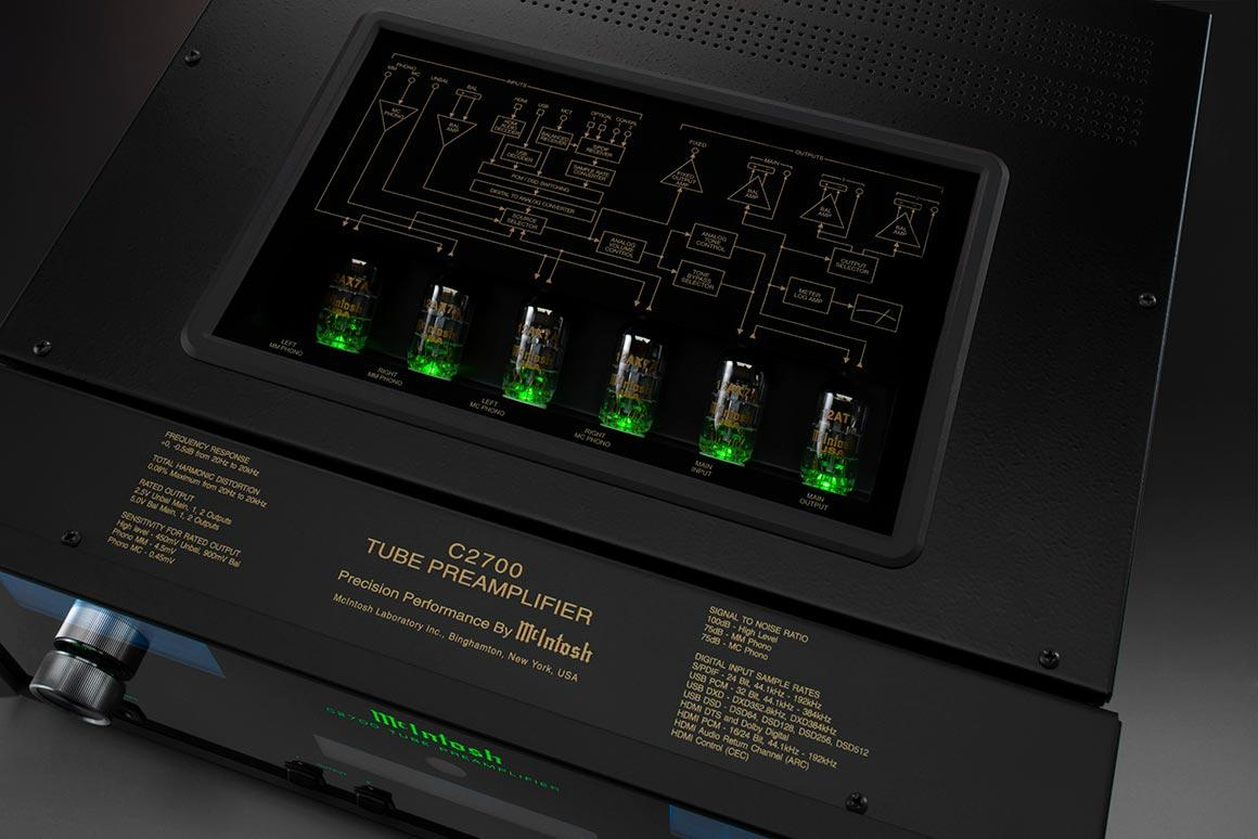 McIntosh partners new Hi-Res DAC with vacuum tubes in C2700