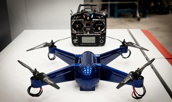 "The finished quadcopter does indeed fly, and is described as being ""extremely rugged"""