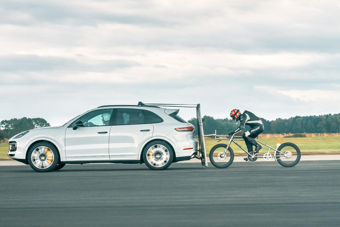 At just a hair under 150 mph, Soupy Campbell is now the fastest man in Europe on a bicycle